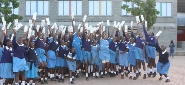 Girls benefits from reusable pads as the world mark Menstrual Hygiene Management Day!